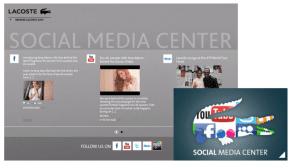 Social Hub Landing page