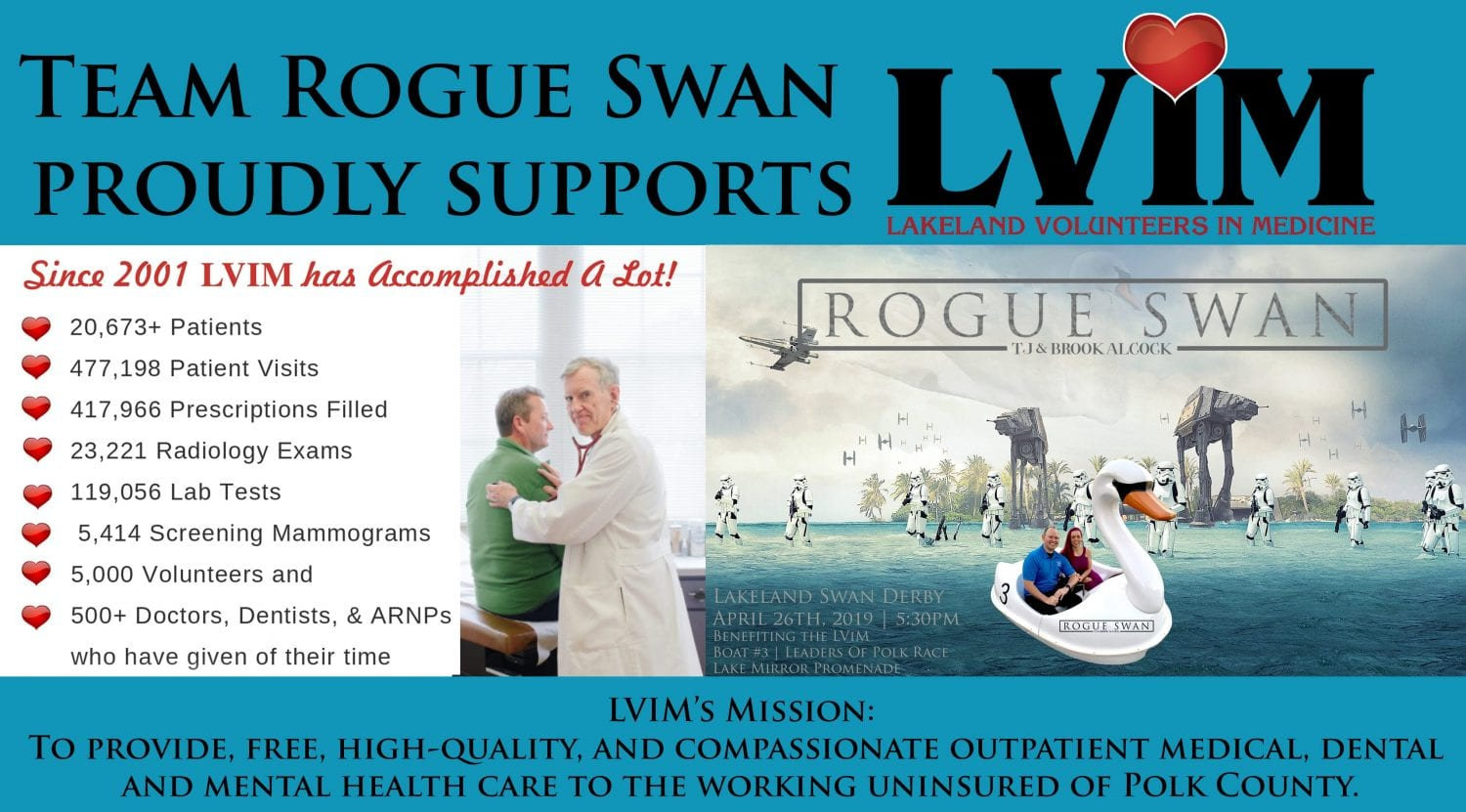 TBA Marketing Proudly Supports The LVIM - Team Rogue Swan