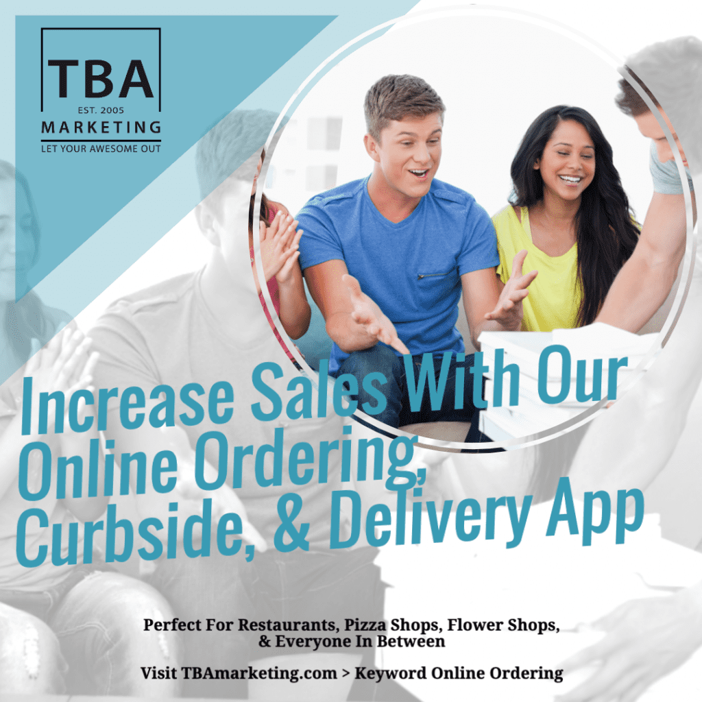 TBA Marketing Online Ordering App For Curbside & Delivery